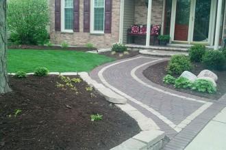 Landscape Design, Walkways, Shrubs & Perennials, Bed Edge Redefinition, Mulching
