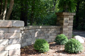 Landscape Design, Walls, Shrubs, Mulching